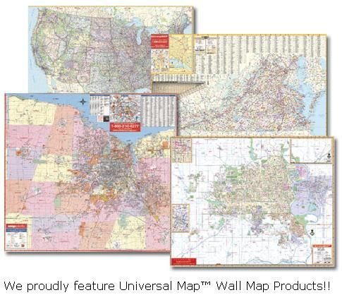 Wall Maps: State Wall Maps, County Wall Maps & City Wall ...
