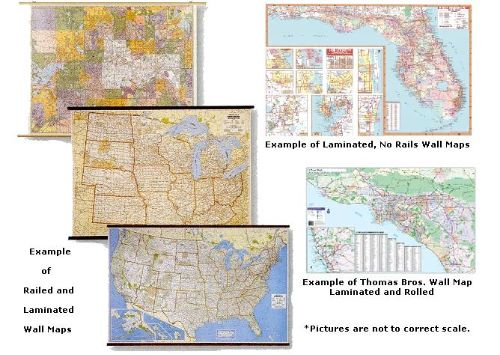 wall maps laminated usa international and world