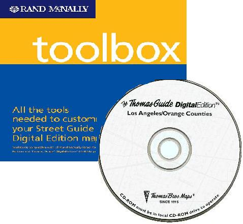 Thomas Guide Digital Edition CD and The ToolBox