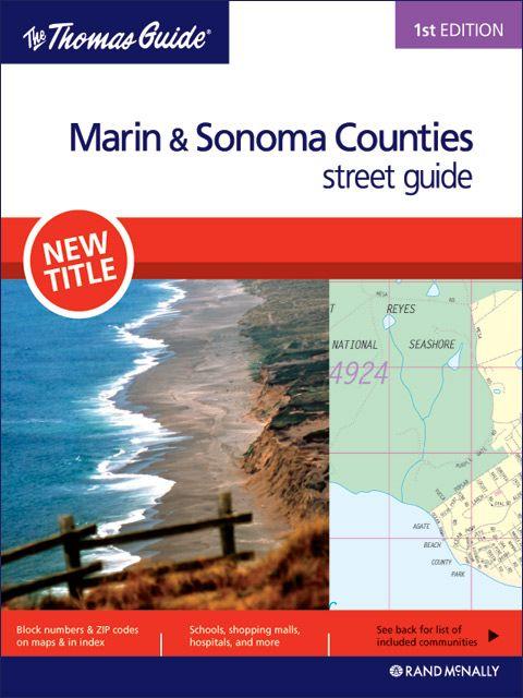 Sonoma Zip Code Map.Marin Sonoma Counties Thomas Guide 1st Editon Laminated Thomas